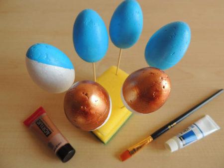 hungarocell tojás festés