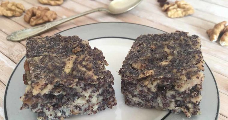 Almás-mákos mákosguba süti