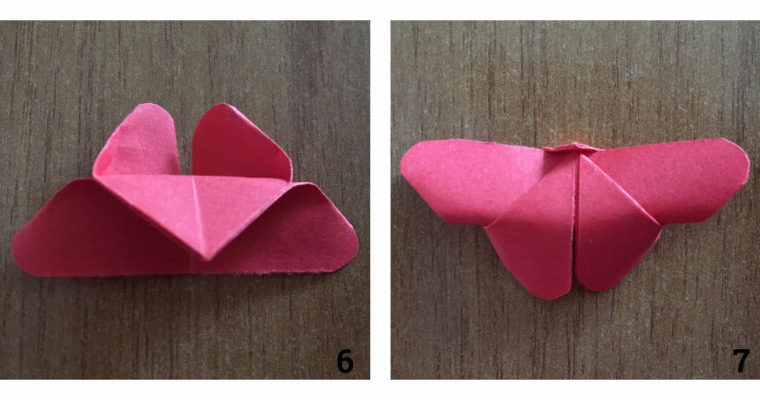 Papír pillangó hajtogatás lépésről lépésre