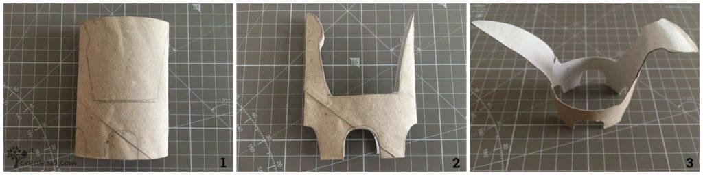 dinoszaurusz papír gurigából