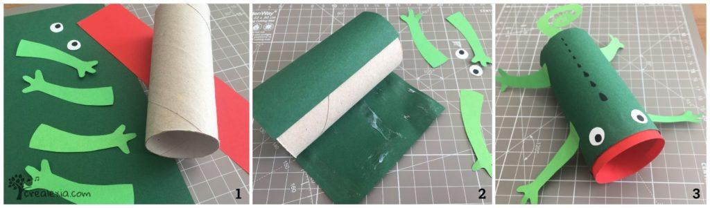 kaméleon papír gurigából