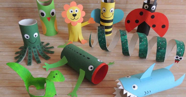 Riciclo creativo: Creare animali con i rotoli di carta igienica
