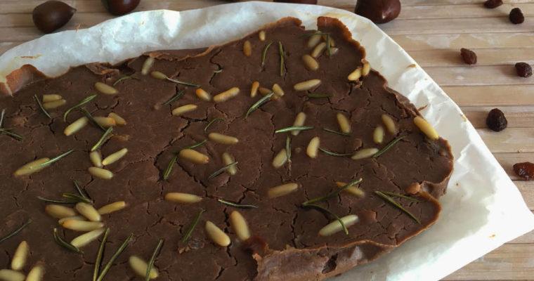 Castagnaccio – Toszkán gesztenyeliszt torta