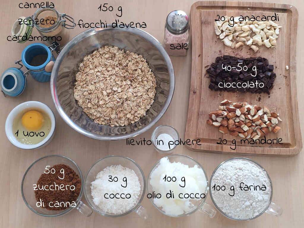 biscotti ingredienti