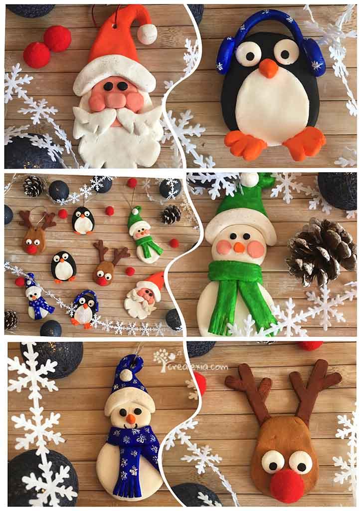 karácsonyi gyurma figurák