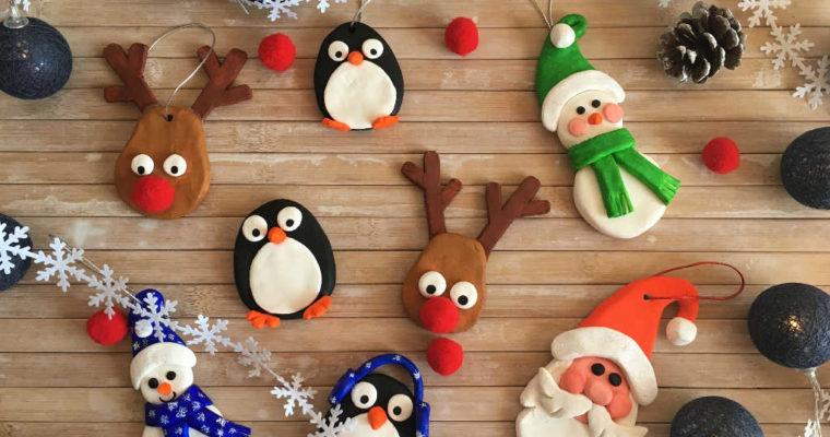 Decorazioni natalizie con la pasta modellabile