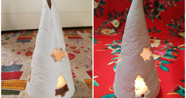 Lanterna natalizia con pasta modellabile
