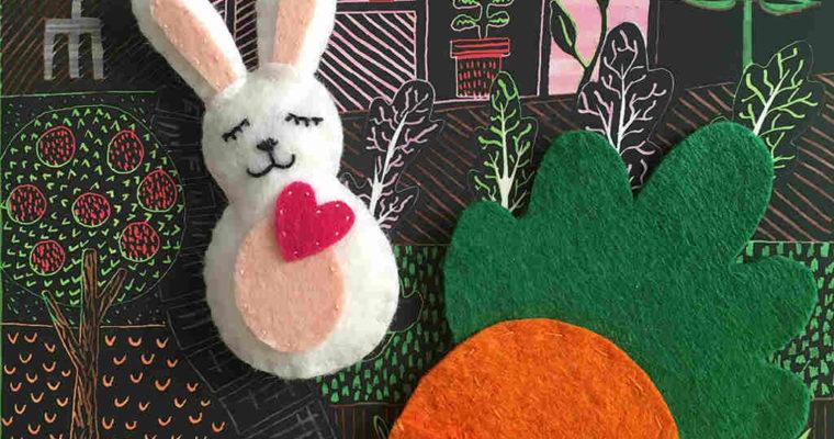 Coniglietto di Pasqua di feltro