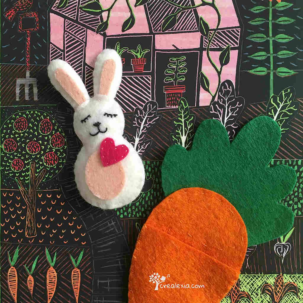 easter felt rabbit