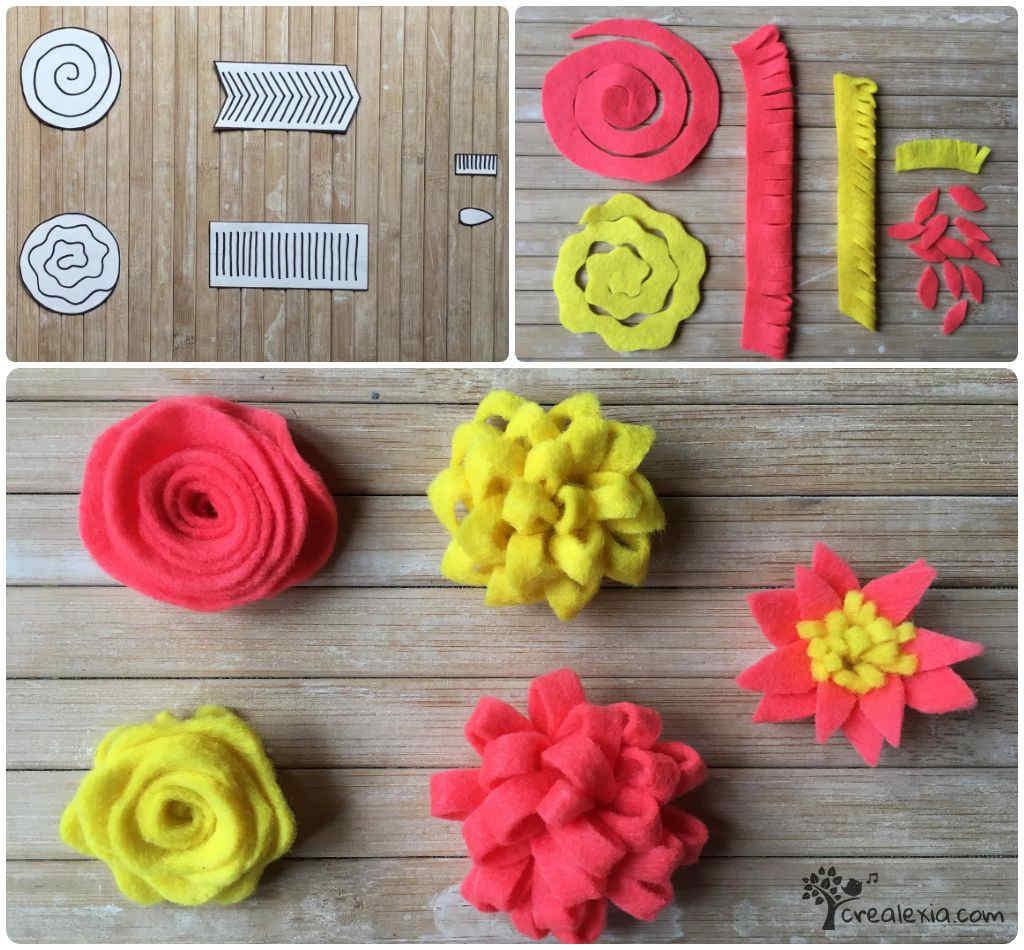 filc virágok készítése