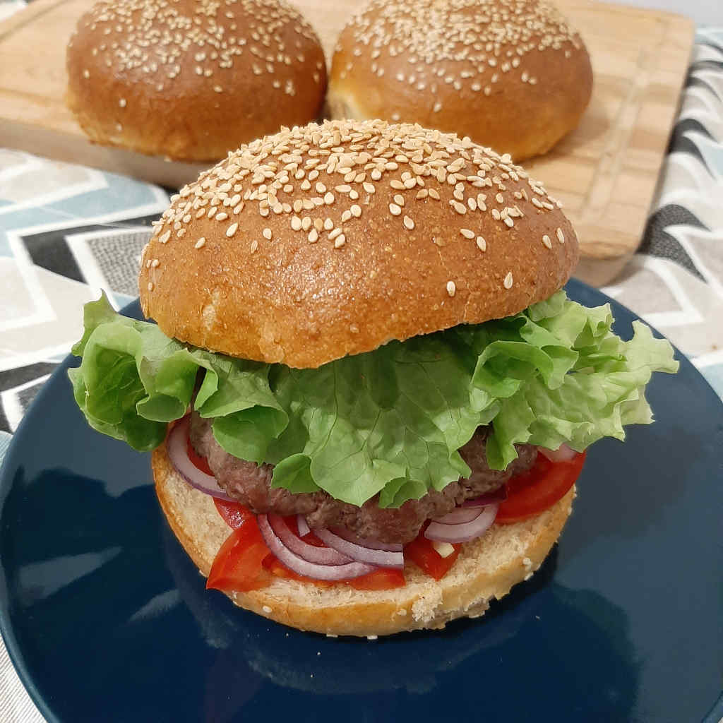házi hamburger zsemle